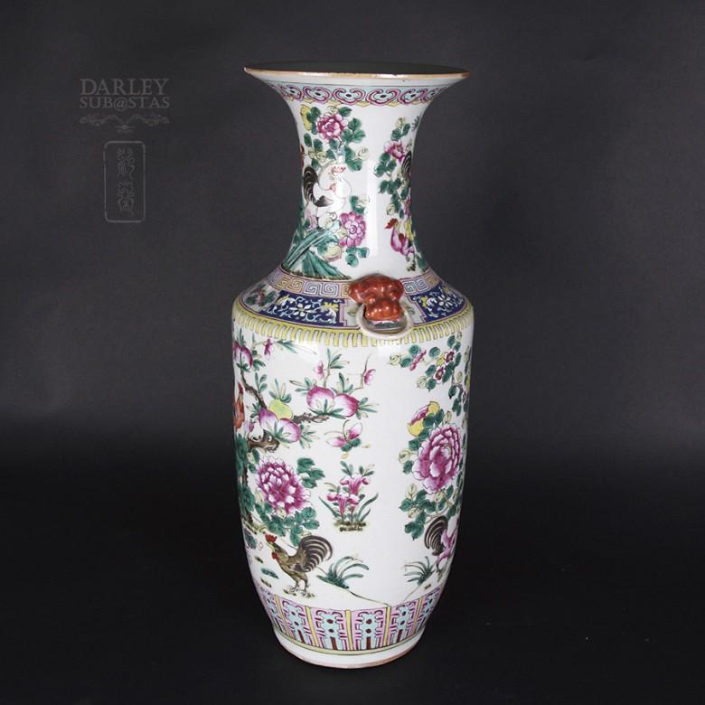Gran jarrón de porcelana china siglo XIX. - 6