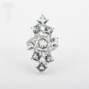 Beautiful aquamarine and diamond ring - 1