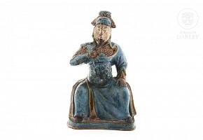 Escultura china de gres,