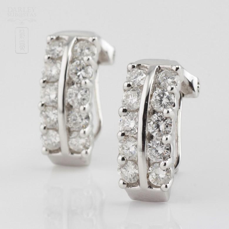 18k白金镶1.82克拉钻石耳环