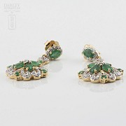 Fantásticos pendientes esmeraldas y diamantes - 1