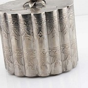 Silver plated cigar case - 2
