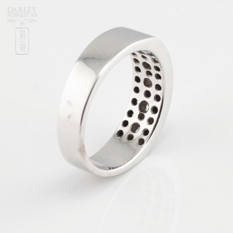 0.46cts beautiful diamond ring and white gold 18k - 3