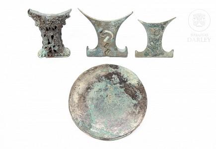 Lote de piezas de bronce, Indonesia.