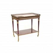 Wooden and bronze bar cart, S XX