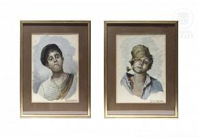 """Ricardo López Cabrera (1864/66-1950) """"Portraits"""""""