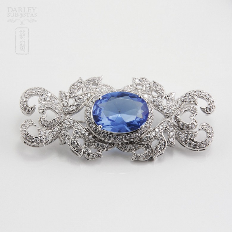 Faller blue dressing and rhodium plated - 5