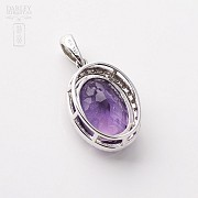 Pendant in 18k white gold with amethyst and diamonds 5.20cts. - 2