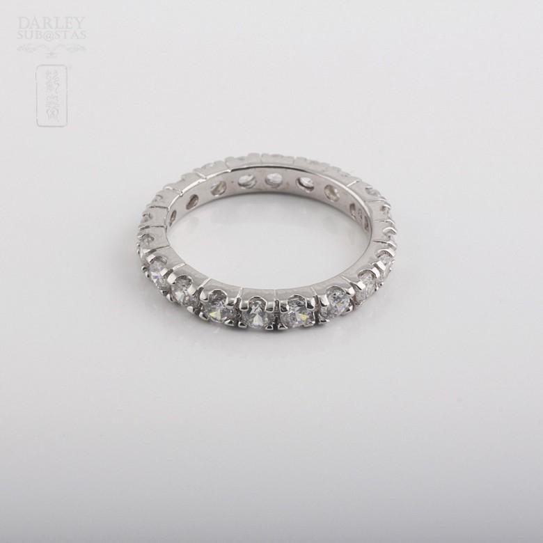 Ring Zirconia  in sterling silver, 925 - 2