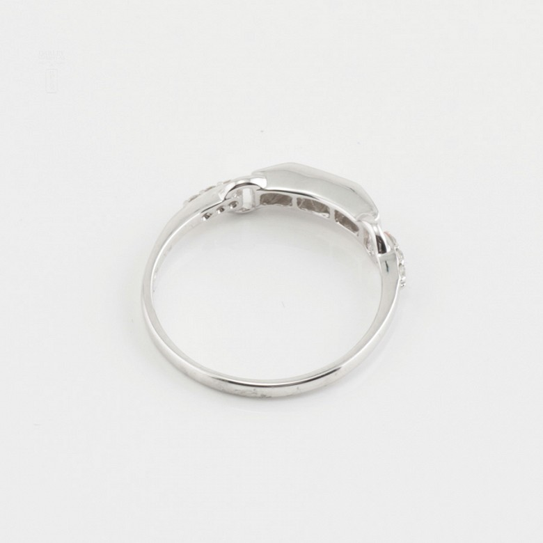 Nice ring white gold and diamonds 0.20cts - 2