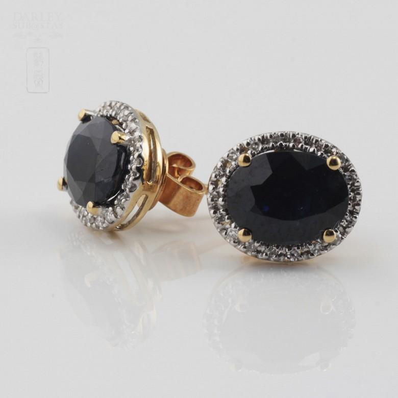 Bonitos pendientes zafiros y diamantes