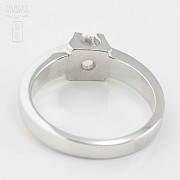 0.16cts diamond solitaire 18k White Gold - 3