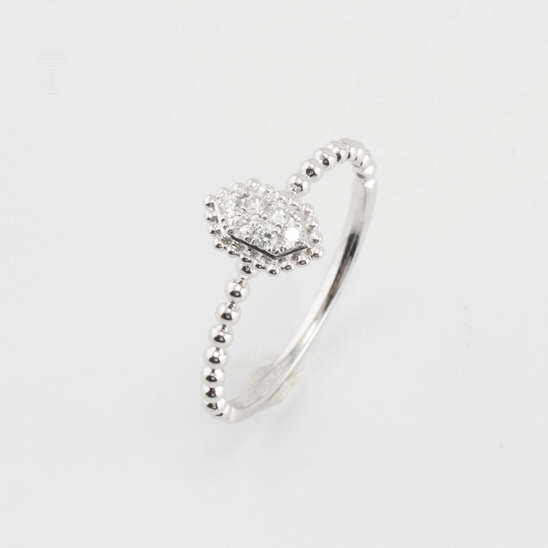 Nice ring 18k white gold and diamonds 0.09cts - 3