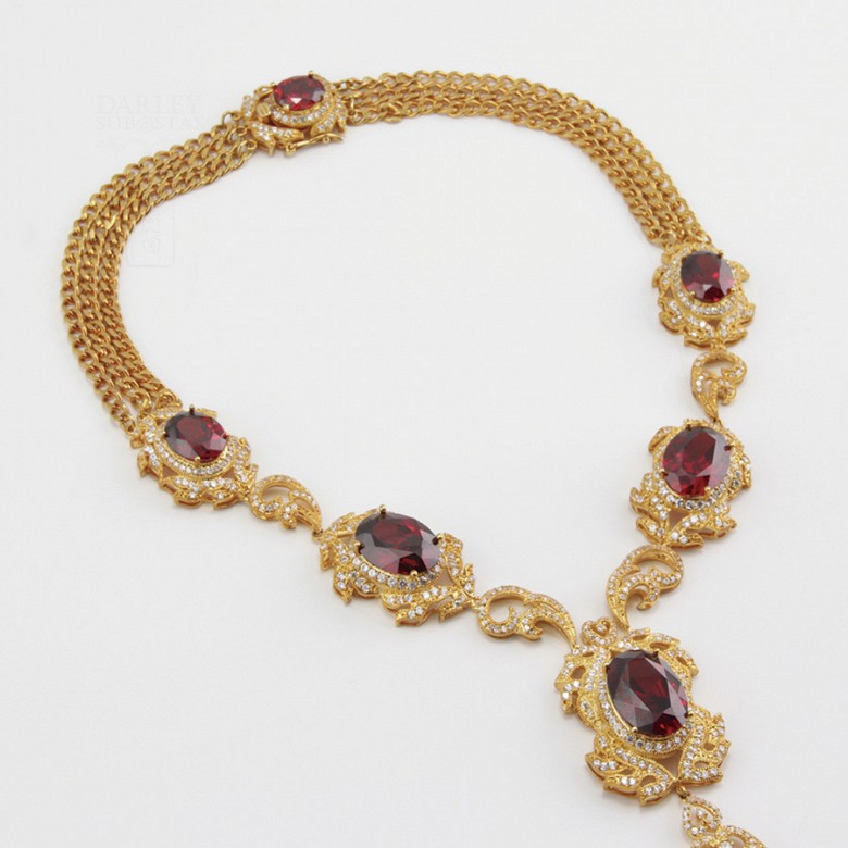 Faller dressing Ruby red and gold - 10