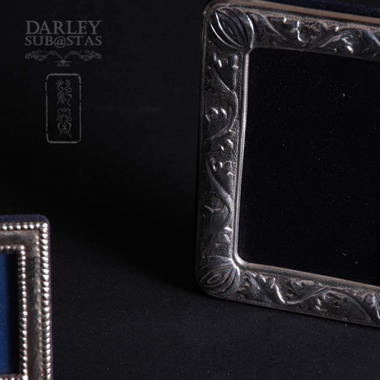 Watch Game and silver photo frames 一组银相框 - 2