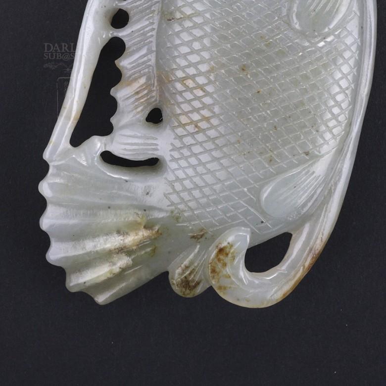Precioso Jade forma de pez - 4