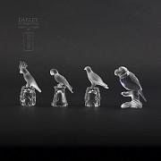 Set of four figures of birds in Swarovski Crystal - 5