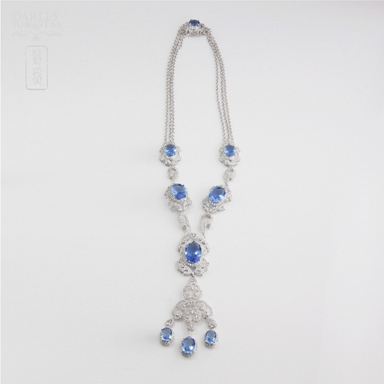 Faller blue dressing and rhodium plated - 6