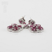 Fantastic earrings with ruby and diamonds - 2