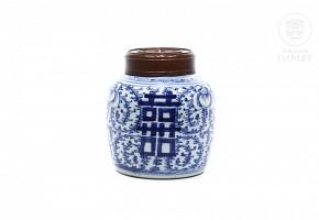 Tibor de porcelana china, s.XX
