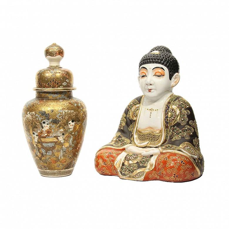 Lote de porcelana japonesa Satsuma, s.XX