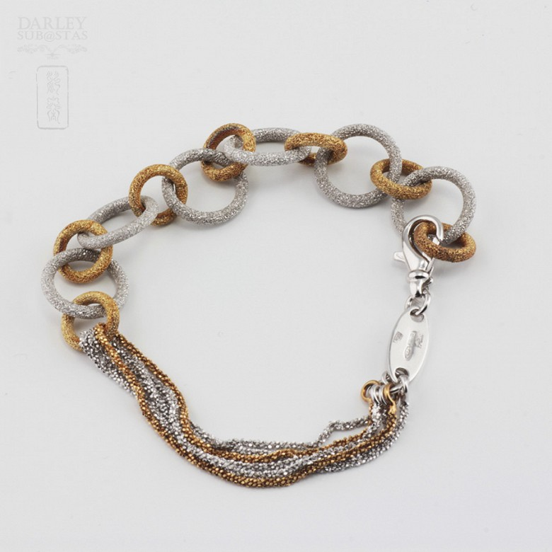 Bicolor bracelet in sterling silver, 925 m / m