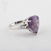 Fantastic ring with Amethyst and Diamond - 1