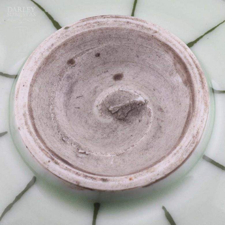 vasija de ceramica verde - 2