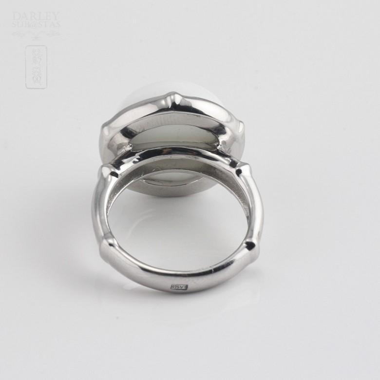 White porcelain ring silver 925 m / m - 2