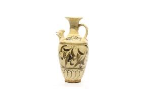 Aguamanil de cerámica china esmaltada, Cizhou.