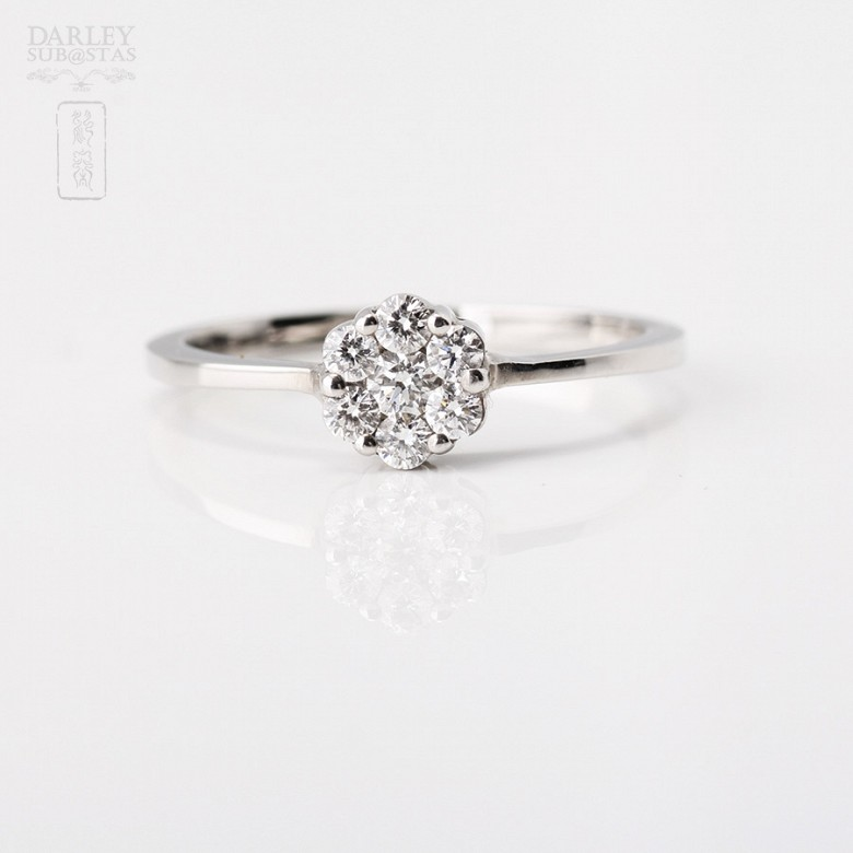 Ring in 18k white gold with diamonds - 3