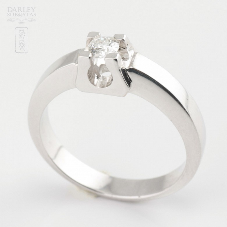 0.16cts diamond solitaire 18k White Gold