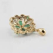 Fantástico colgante esmeraldas y diamantes - 3