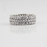 Bonito anillo en plata-rodio y circonitas - 2