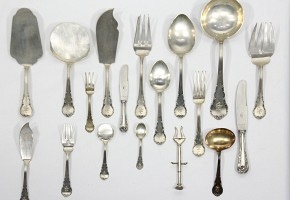Silver cutlery, Spain, meds.s.XX