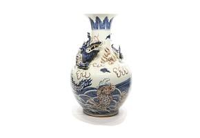 Jarrón de cerámica, China, s.XX