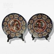 Pair of enameled plates