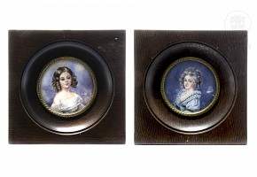 Two miniatures of maidens, early 20th century