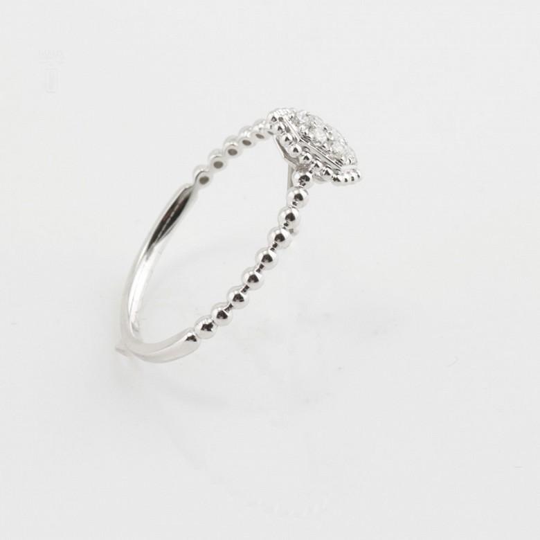 18K白金钻石戒指 - 2