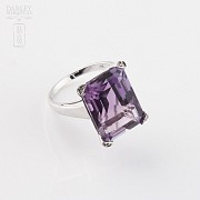 ring with 17.94 cts amethyst diamonds and 18k white gold - 4