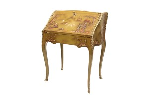 Louis XV style lady's desk lacquered, 20th century