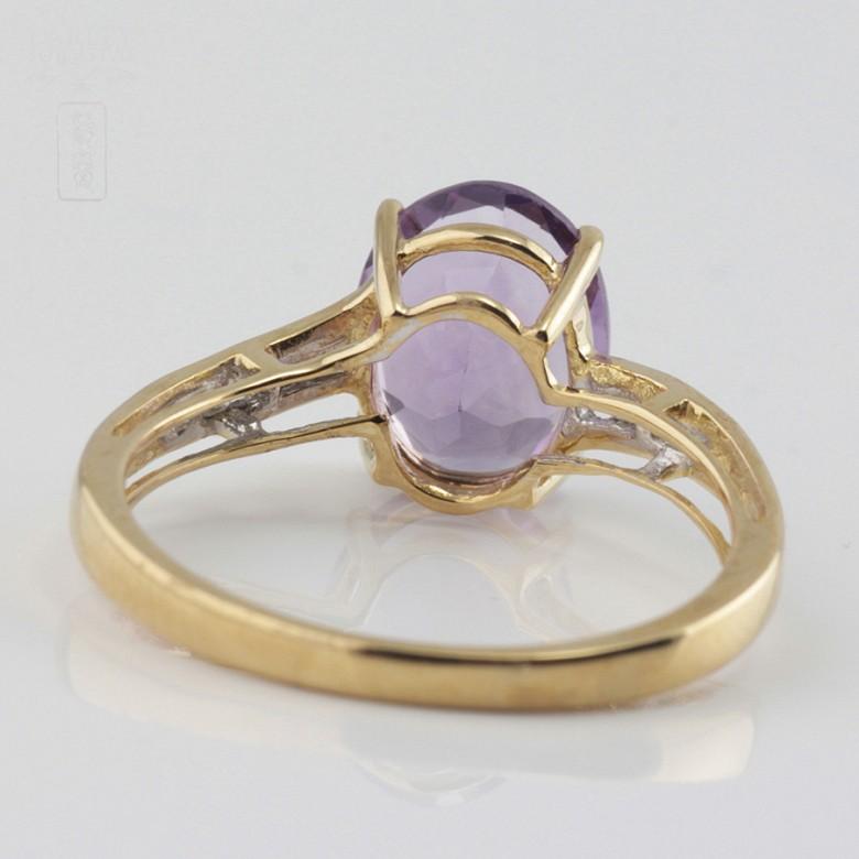 Bonito anillo amatista y diamantes - 2