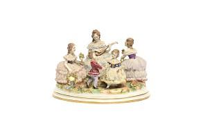 German porcelain group, Aelteste Volkstedt, pps.s.XX