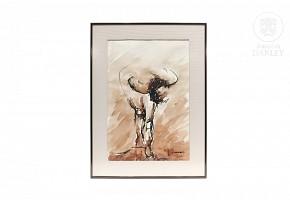 """Jesús Barranco (1960) """"Figura"""", 1990."""