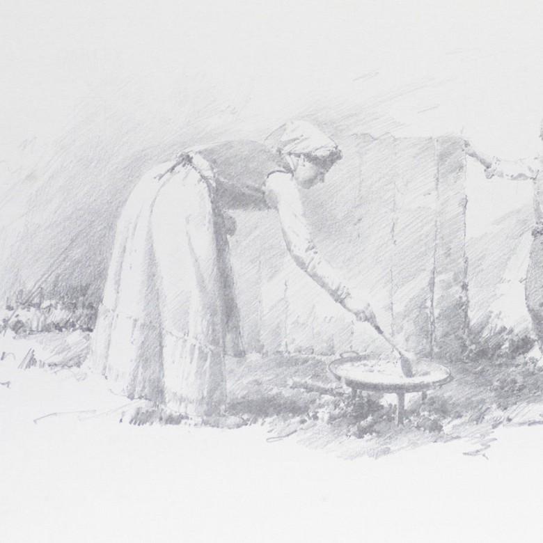Conrado Meseguer Muñoz  3 Litografías - 8