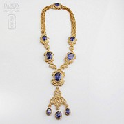 Faller dressing Sapphire blue and gold - 1