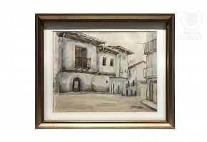 "Vicente Castell Alonso (s.XX) ""Vista"", 1958"