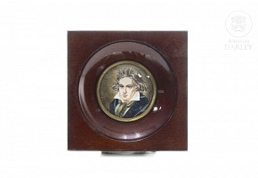 Miniature of Ludwig van Beethoven, early 20th century