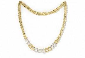 Gargantilla de oro bicolor de 18k y diamantes