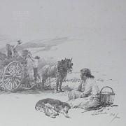 Conrado Meseguer Munoz 3 Lithographs 版画 - 4